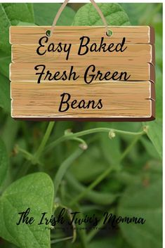Easy Baked Green Beans- Delicious green beans recipe that is sure to satisfy everyone. It is even kid-approved and would a perfect dish for Thanksgiving! Delicious Green Beans, Baked Green Beans, Baked Beans, Irish Twins, Old Farmers Almanac, Healty Dinner, Green Bean Recipes, Baking With Kids