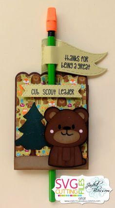Pencil Holders-Using Scallop Heart Mini Animal Card Set
