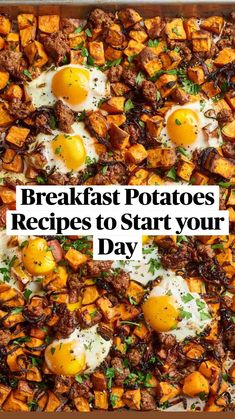 Breakfast Dishes, Breakfast Time, Healthy Breakfast Recipes, Brunch Recipes, Healthy Breakfast Potatoes, Vegetarian Recipes, Cooking Recipes, Healthy Recipes, Quick Recipes