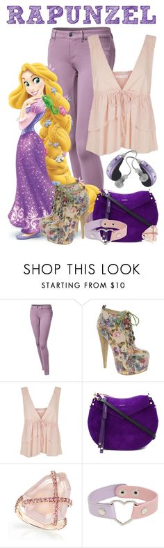 """Rapunzel"" by janastasiagg ❤ liked on Polyvore featuring Panasonic, ALDO, See by Chloé and Jimmy Choo"