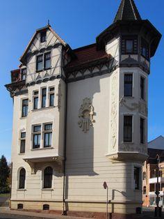 Eckhaus von 1909, Reichensächser Str./Bismarckstraße in Eschwege an der Werra