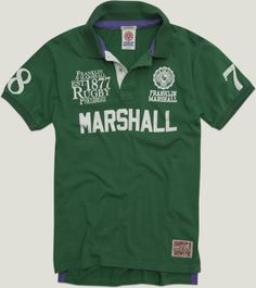 2013 - MAN Spring Summer COLLECTION - Jersey polo shirt with prints. #franklinandmarshall, #americancollegestyle.
