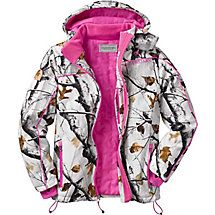 Combining the latest in high performance softshell fabric in Big Game® Camo with poly fill insulation for extreme warmth, comfort, and versatility.  Features zippered pockets including one interior, extended cuffs with thumb holes, insulated zip off hood, and adjustable elastic waist draw cord.  You will be amazed at the warmth!