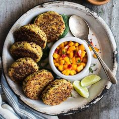 """2,365 Likes, 20 Comments - Cooking Light (@cookinglight) on Instagram: """"These crispy quinoa and chickpea cakes by @healthynibblesandbits are everything our desk lunch…"""""""