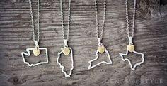 50 U.S. States Pendant Necklaces! | Jane