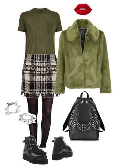 """""""Senza titolo #2182"""" by monsteryay ❤ liked on Polyvore featuring SPANX, Alexander Wang, MSGM, Topshop, Lime Crime and Maria Francesca Pepe"""