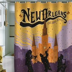 New Orleans Shower Curtain 69x70 now featured on Fab.