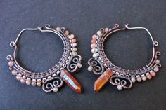 Peach Moonstone and Quartz Fairy Gypsy Tribal by ChrysalisTribe, $64.00