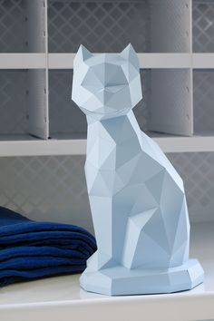 Blue Zwicky The Cat Origami by Assembli x Fleux' - Limited Edition