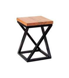 With its solid geometric lines, the Onn Stool it has a strong modern and industrial feel. The Onn Stool is a very robust and attractve stool, perfect for your home. Made from tubular steel, this low stool is a fantastic optical illusion.