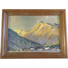 R. Patricia Fox, Dolomite Recollection Oil Painting on Canvas Mountain Landscape Signed by Colorado Artist