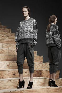 Alexander Wang: it's a glorified sweatshirt-sweatpants combo ! #fashion #prefall