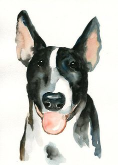 CUSTOM PET PORTRAIT  Original watercolor painting 8X10inch $45 shipped by dimdl on @Etsy #dogs #gifts #pets #watercolor