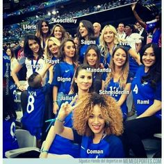 Las novias de los futbolistas de la selección de Francia