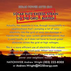 MYTH #41 - SOLAR PUTS EXCESS STRAIN ON THE GRID - BUSTED!  Actually, the…