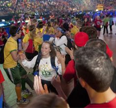 Dancers in the house prior to the start of THON.