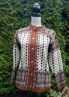 Norwegian cardigan wool sweater by Janus of by VikingRaids on Etsy