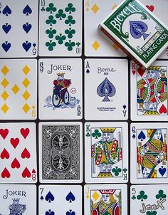 These are Bicycle playing cards. I do enjoy playing cards, but I haven't done so for quite a while now. But, when I get the opportunity, I will! There're so many games to play: it never gets boring. And it can be a fun & challenging way to win money!