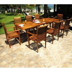 Salon de jardin en bois de TECK BRUT QUALITE PREMIUM - Table ovale + ...