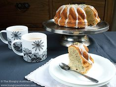 Lady Grey Bundt Cake with Rosewater and Honey Icing - Honest Cooking