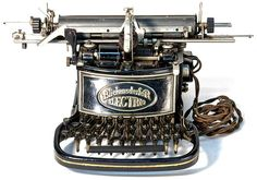 The Blick Electric was just the 2nd commercially produced electric typewriter.  It was patented in 1900 and available shortly there after.  It was about 50 years ahead of its time so not too many were made.