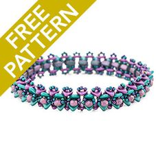 Victory Bangle Pattern for Czechmates | Fusion Beads
