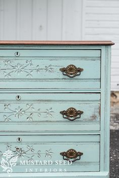 """If you watched the """"prove yourself wrong"""" video, you already saw how this dresser turned out, but I wanted to give it a proper before and after post. Here's the before… This piece really was a pretty one as is, but I needed a piece to paint and crossed paths with this one. I decided to …"""
