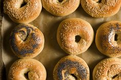 BAGELS.  Because you can't get NJ bagels in MI.  Helpful notes:  cut salt down to about 2 tsp.!!  Instead of malt syrup, I used malt powder.  I bought it at a liquor store that sells home-brewing supplies (the saleswoman there said she also puts it in brownies to make them taste like Whoppers candies).-sk