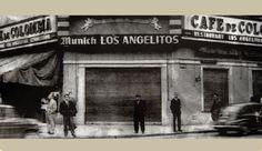 foto historica. cafe los angelitos. Buenos Aires