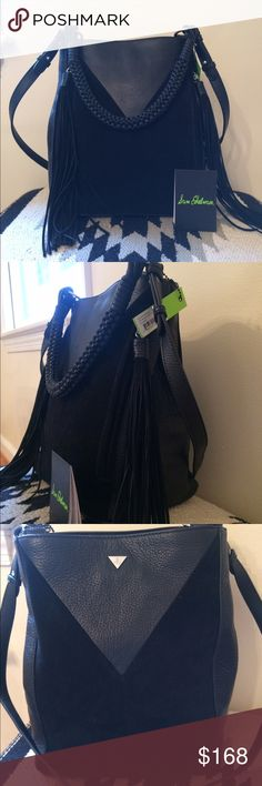 """Sam Edelman Leather & Suede Bucket Bag Chunky braided handle and fringes charm this bag. Top braided handle has approx 10"""" drop. Adjustable shoulder strap with 21"""" drop also included. Magnetic snap closure, silver hardware. Lined, inside zip pockets. Beautiful genuine leather and suede. So soft. Authentication card included. Sam Edelman Bags Shoulder Bags"""