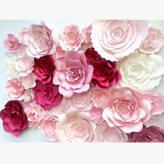 Large Paper Flower Wall large paper flower backdrop by PaperFlora                                                                                                                                                                                 More