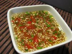 Vietnamese Dipping Sauce (Nuoc Cham) This sauce is delicious on just about anything including plain white rice. Wonderful on grilled shrimp. It is the sauce used for the Grilled Vietnamese Jumbo Shrimp on Sugarcane Sticks that I posted. Great recipe with many variations!