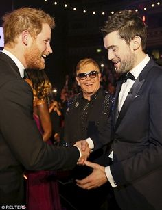 Jack Whitehall seemed to make Elton John chuckle...