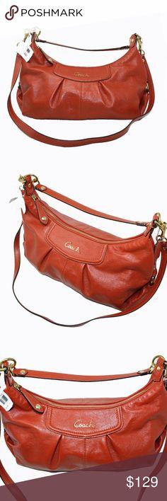 I just added this listing on Poshmark: Ashley Hobo Orange Leather Cross Body Bag Coach Handbags, Coach Purses, Purses And Handbags, Cheap Coach Bags, Orange Leather, Gold Hardware, Leather Crossbody Bag, Cross Body, Shoulder Bag