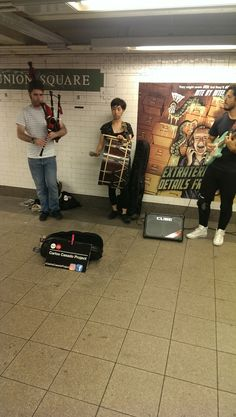 Bagpipes, Celtic Groove with a Twist, Carlos Cassado Project, Union Square Station