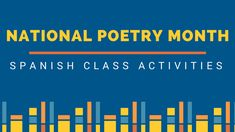 Three different poetry activities that you can try during National Poetry Month for beginner, intermediate and advanced students.