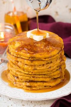 The Best Pumpkin Pancakes | See More at homemaderecipes.com