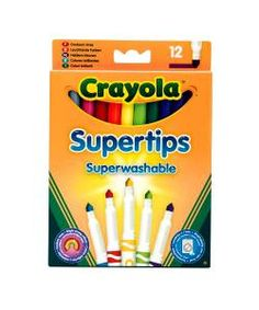 Crayola 12 Bright Supertips | Felt Tip Pens #Kids Arts & #Crafts @ £2.99