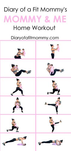 Losing the Baby Weight: Mommy & Me Home Workout - Diary of a.-Losing the Baby Weight: Mommy & Me Home Workout – Diary of a Fit Mommy At-home workouts with baby - After Baby Workout, Post Baby Workout, Post Pregnancy Workout, Mommy Workout, Workout Diary, Fitness After Baby, Baby Weight Workout, Fit Pregnancy, Losing Baby Weight