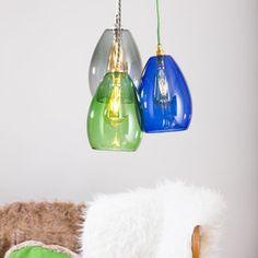 Bertie Coloured Glass Cluster Light