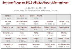 Flughafen Memmingen Allgäu Airport   Flugbuchung LastMinute Reiseinfos Beratung