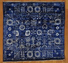 This small, stylish, and affordable area rug is our #DealoftheDay!  5' x 5' Square Oriental Rug Hand Knotted Tabriz Wool and Bamboo Silk