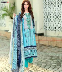 Lala Classic Cotton Embroidered lawn Suits Vol 1. CCE_05B
