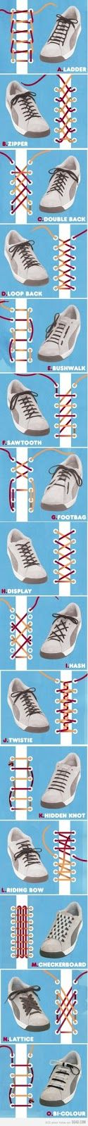See more Different styles of inserting laces in shoes