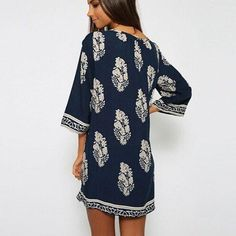 Loose Pattern Design Mini Dress