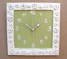 Cream Shabby Chic Wall Clock by tammnoony on Etsy, $35.90 This one is even more fun!