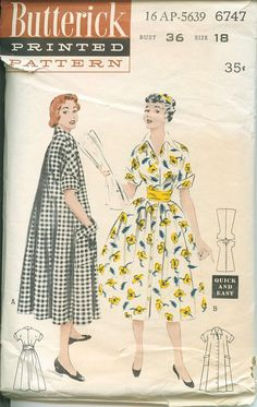 1950s Butterick Dress Coat Pattern