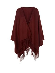 Channel elegant Bohemia with this beautiful burgundy tassled wrap. Layering is a key look for AW15 and adding a wrap is one of the easiest and most stylish ways of enhancing your ensemble. £17.99 New Look