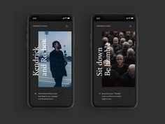 Kendrick Lamar – web design by Nicolas Bonté on Dribbble Ui Design Mobile, App Ui Design, User Interface Design, Mobile Ui, Ad Design, Layout Design, Minimal Web Design, Kendrick Lamar, Website Design Inspiration