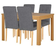 Collection Adaline Ext Dining Table 4 Chairs Oak Effect At Argos Co